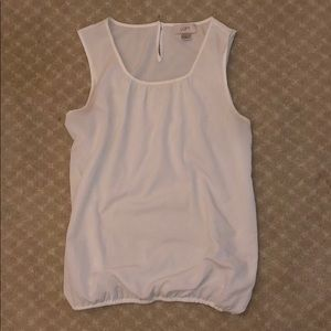 White Blouse Tank